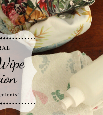 Homemade Natural Baby Wipe Solution