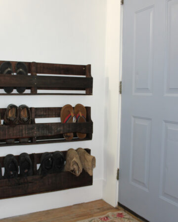 entry way pallet shoe rack